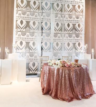 Wedding backdrop for Nigerian wedding