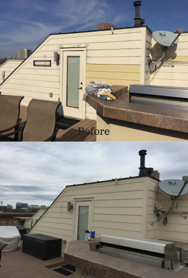 Before and After Roof Repainting