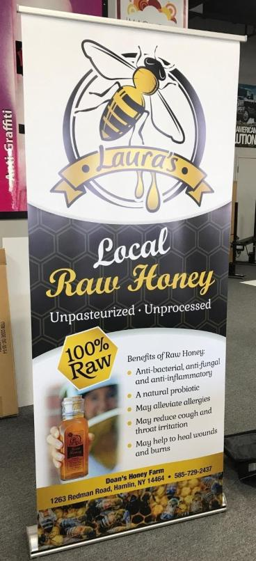 Banner Stand for Laura's