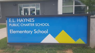 Outdoor Sign for Haynes ES in Washington DC