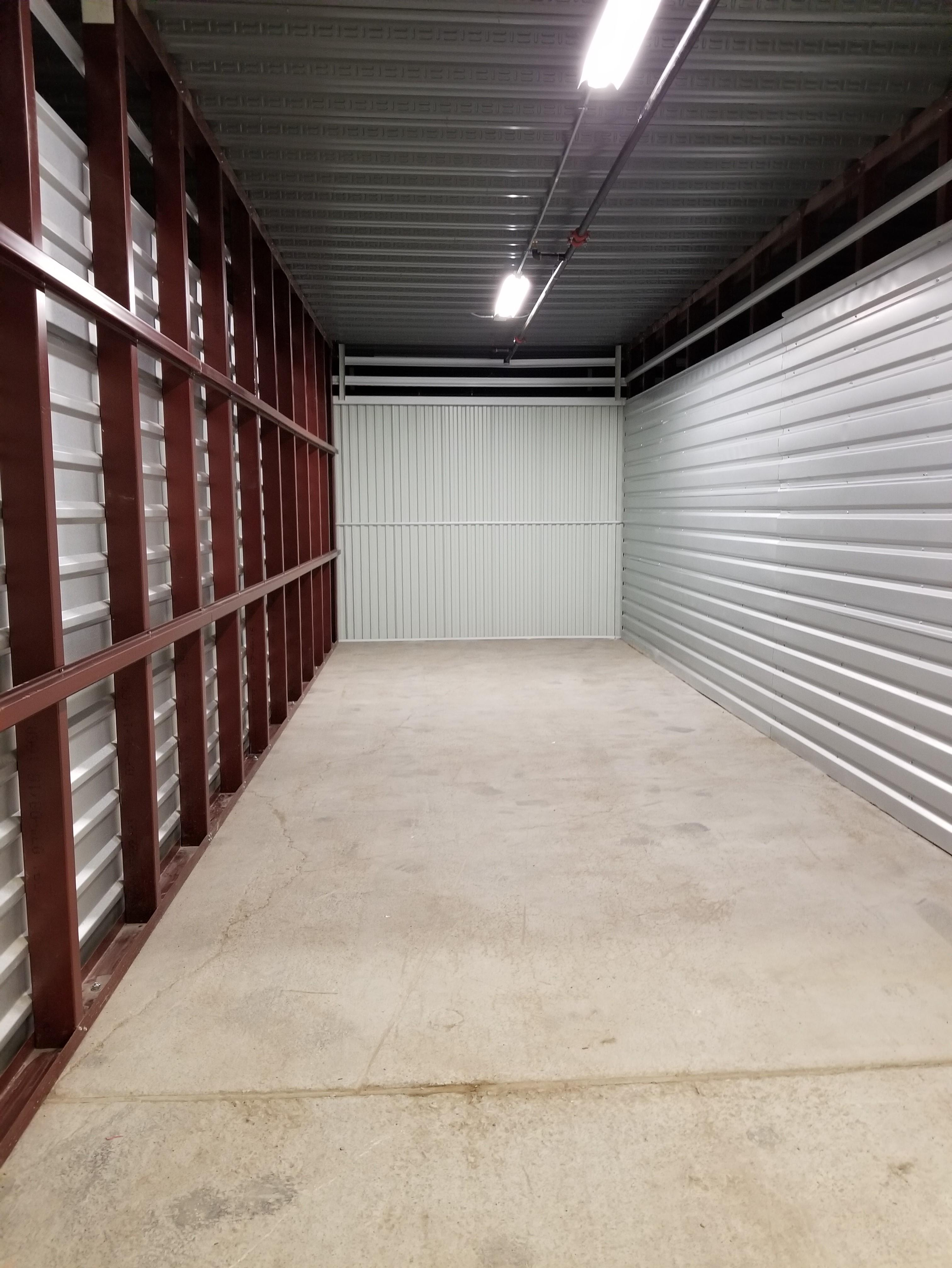 Large 10X30 unit, clean and waiting for your storage items!