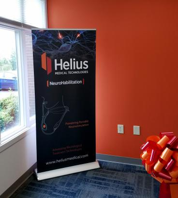 Helius Medical Retractable Banner