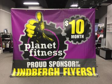 Planet Fitness Banner for Lindbergh High School