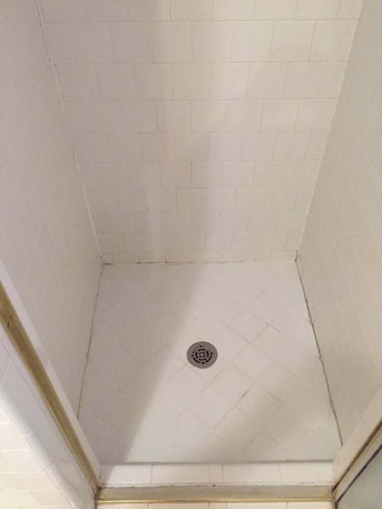Before- shower grouting