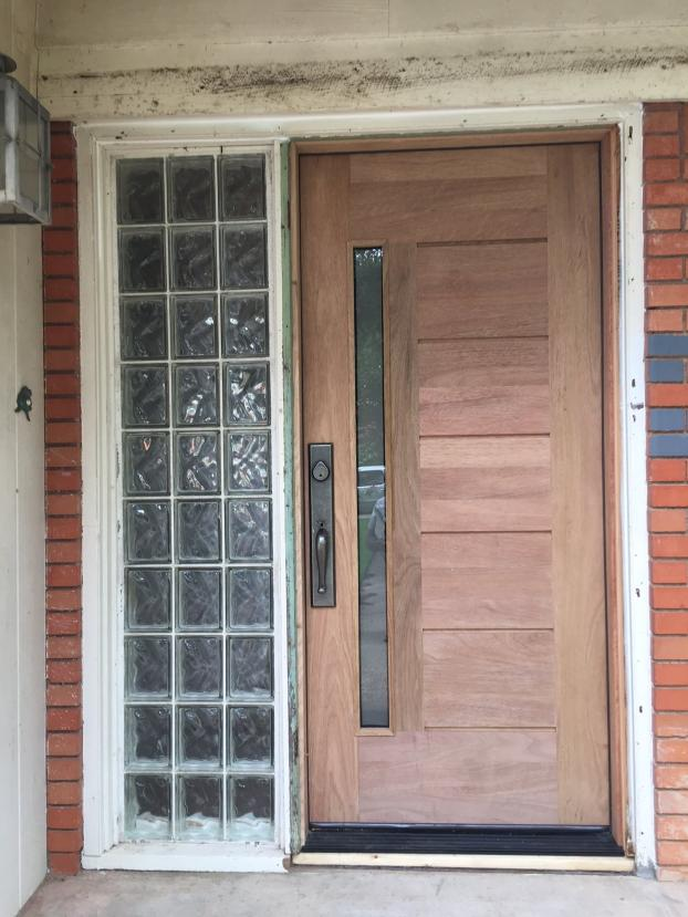 After picture: front door installation