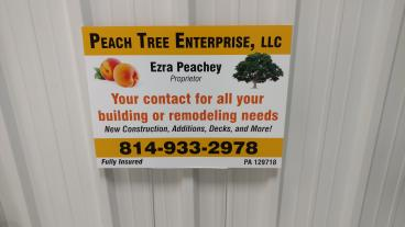 Peach Tree Yard Signs
