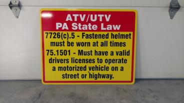 ATV Signage