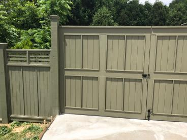 Replaced Privacy Fence with Custom Gate - Owings Mills, MD
