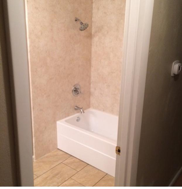 New Re-Bath bathtub and walls and Avaire Floor
