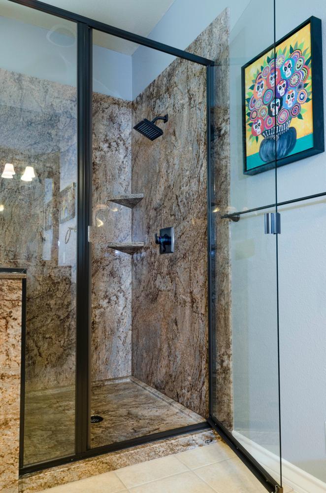 custom shower glass enclosure