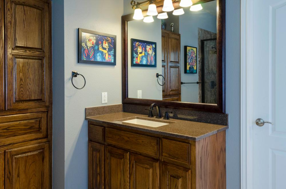 cabinetry and lighting