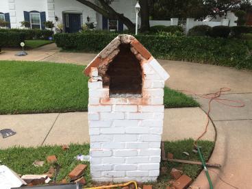Mailbox repair- before