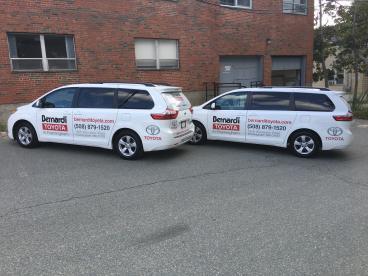 Bernardi Toyota of Framingham Vehicle Lettering