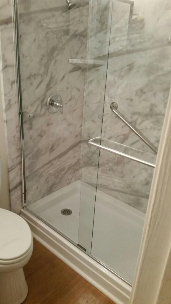 ReBath walk in shower durabath white calcutta