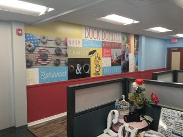 Wall Mural for Duck Donuts