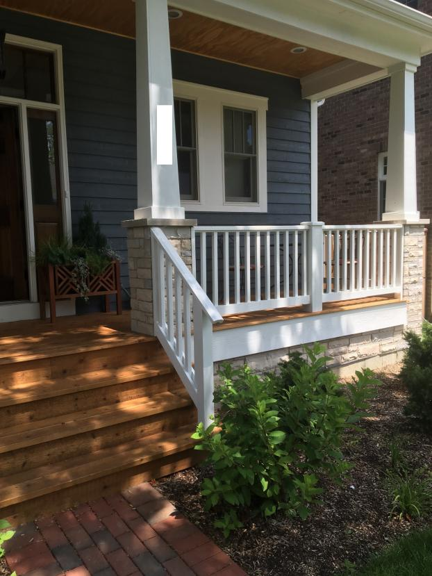 Evanston porch - Paint and deck seal - After