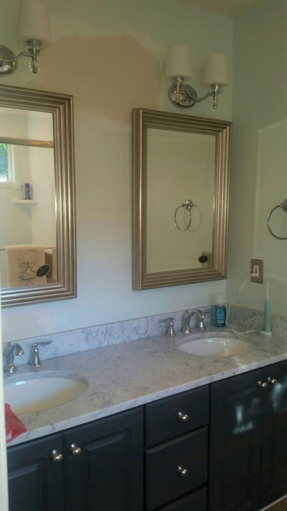 New Vanity, Mirror and Lighting in NE Columbia  AFTER