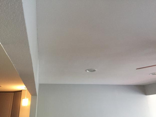 ceiling sheetrock repair- after
