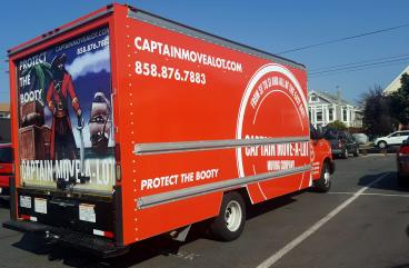 Captain Move a Lot vehicle wrap