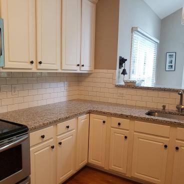 After subway tile was installed in Ashland