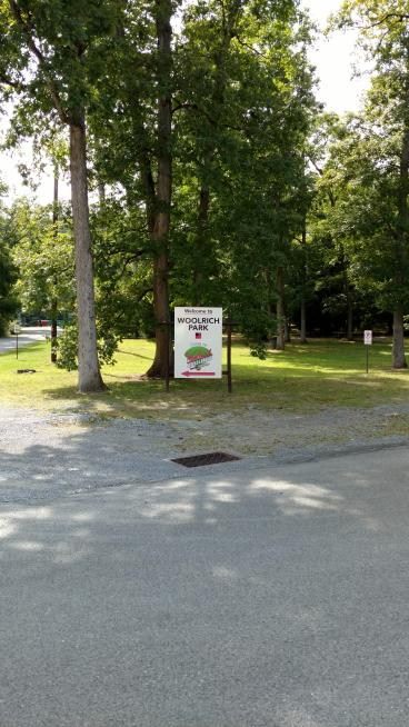 Woolrich Park Sign