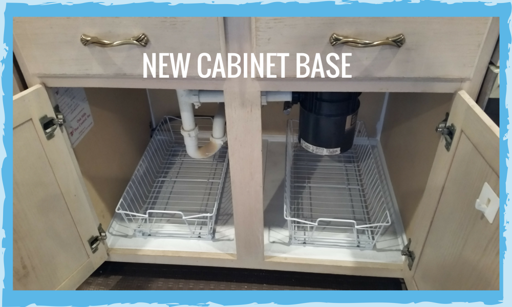 Repaired Cabinet Base