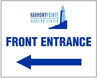 vivage harmony point directional signage front left arrow