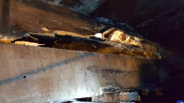 Beam & Joist Repair - 110 year old home Chester VA BEFORE