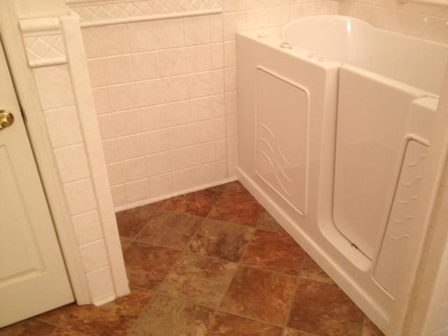 #4 After remodel making it more accessible to take a bath with a walk-in tub in South Hill, VA