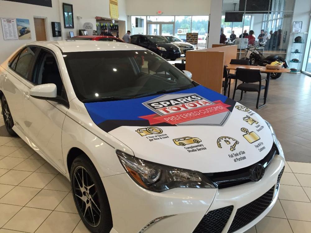 Sparks Toyota Promotional Car Hood