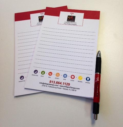 Allegra notepad and pen