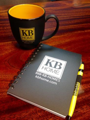 KB notepad, mug, pen