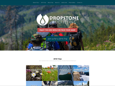 Dropstone Outfitting Website