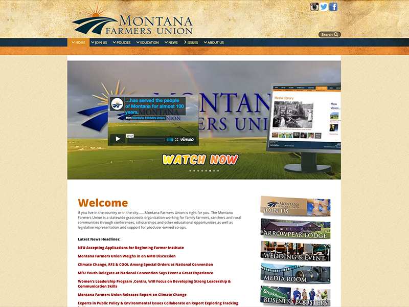 Montana Farmers Union Website