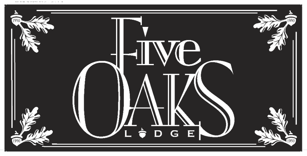 Five Oaks Lodge Sign