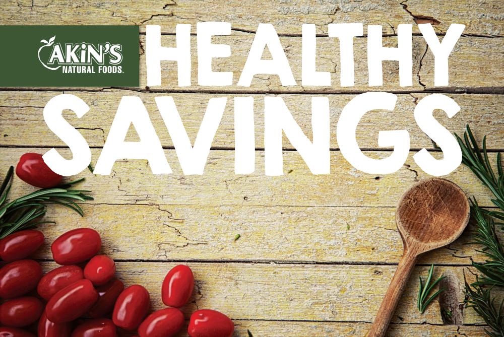 Akin's Endcap Sign Healthy Savings