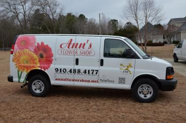 Ann's flower shop van