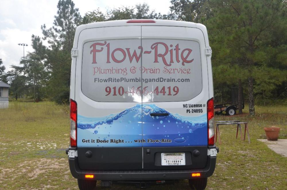 Flow-rite van graphic back