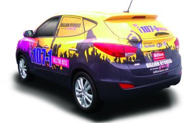 i107.1 Radio Station Vehicle Wrap