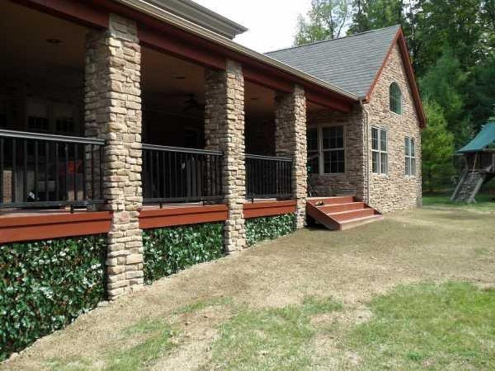 Custom carpentry work of installing decorative lattice at this home in Upper St Clair, PA