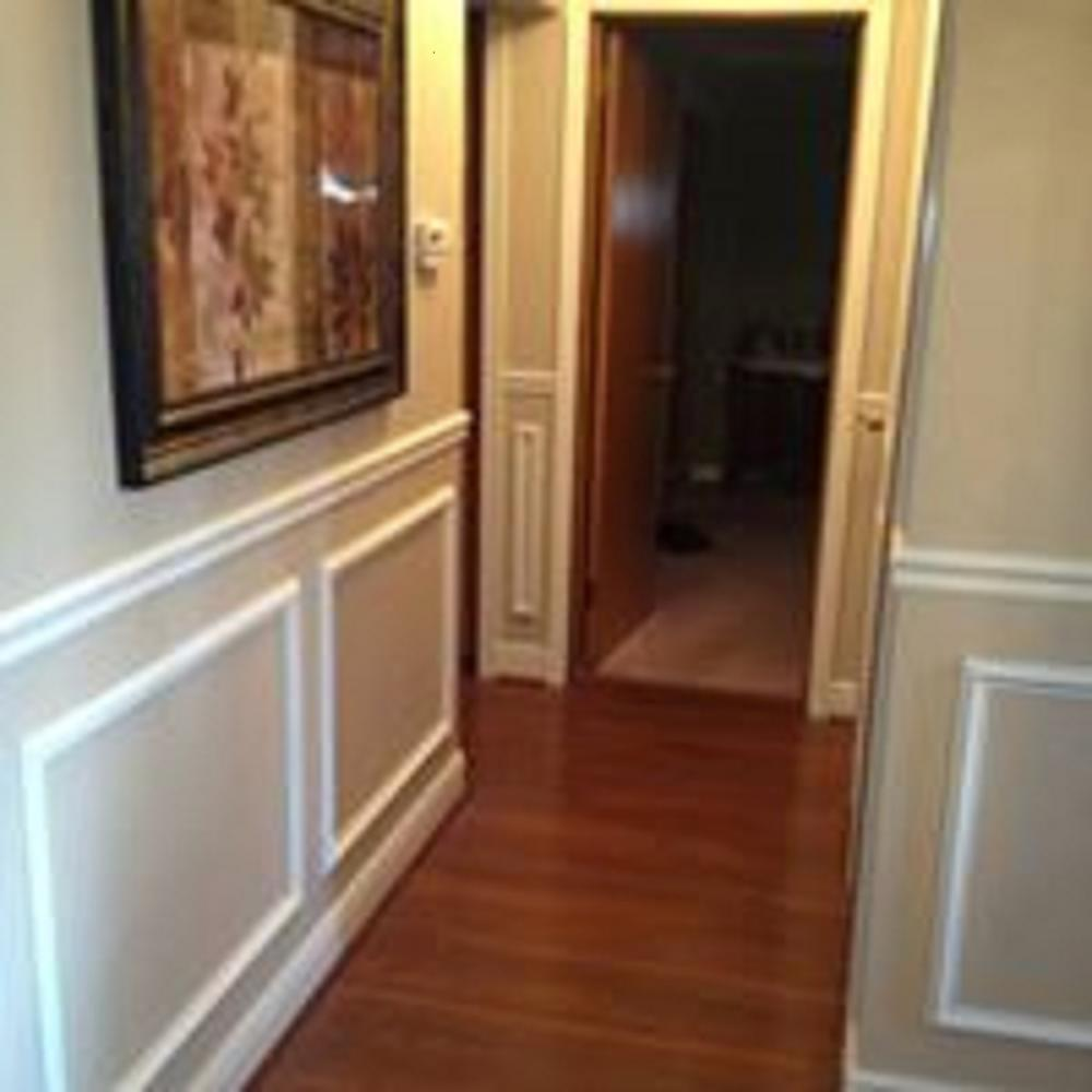 Custom carpentry including installation of chair rail and trim in this Mt. Lebanon, PA home