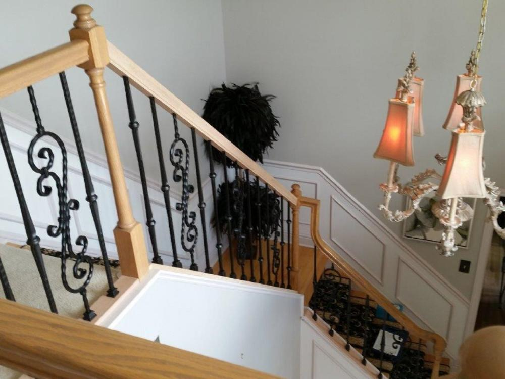 After photo of handrail installed in a customers home in Bridgeville, PA