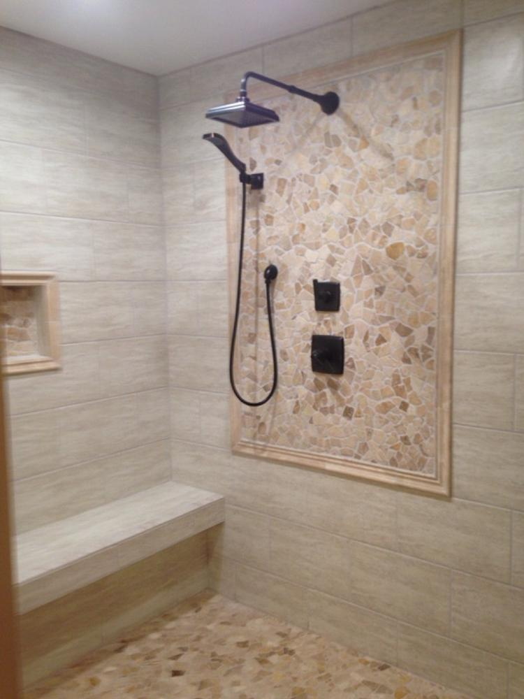Wedi shower installation in complete bath remodel - Claysville, PA (after photo) 6