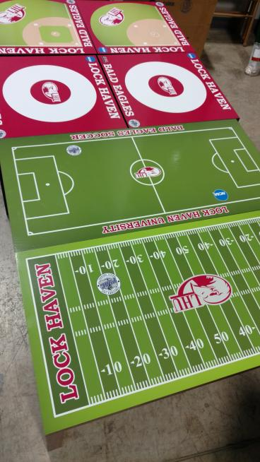 FB, Soccer, Wrestling and BaseBall table top prints