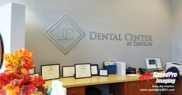 Dimensional Lettering for Dental Office Reception Wall