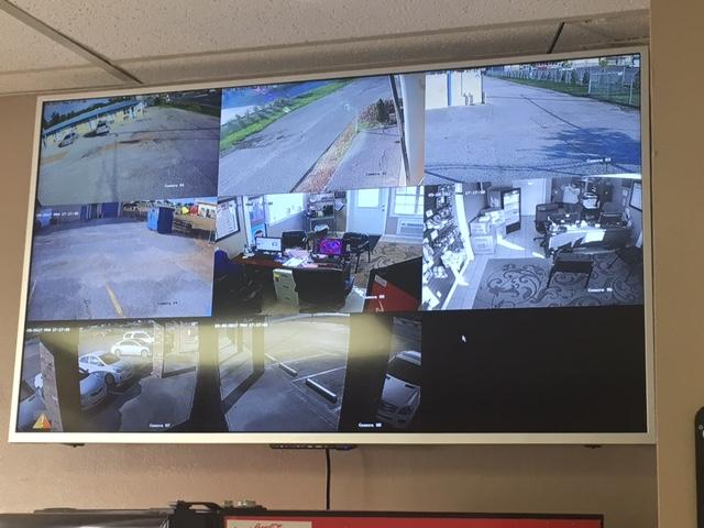 We have several Security Cameras located on the property.