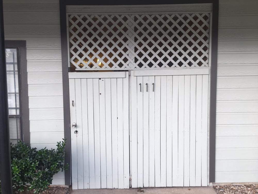Entry door before