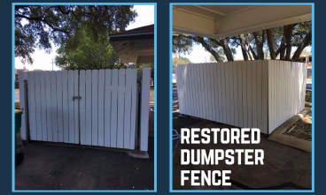 Restore Dumpster Fence and Gate