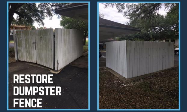 Restore Dumpster Fence