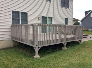 Before Photo of Existing Deteriorated Deck in Hanover Twp